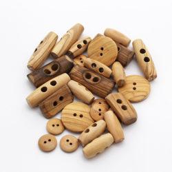 Wooden Italian Buttons